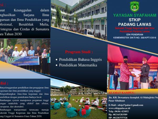 PENERIMAAN MAHASISWA BARU T.A 2021/2022 STKIP PADANG LAWAS